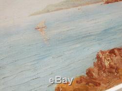 Corniche, Seaside In Provence, Marine Oil Frame Montparnasse 10p