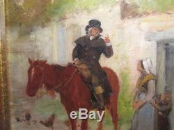 Debate-ponsan E. Oil On Wood Panel. Painter Toulouse. XIX