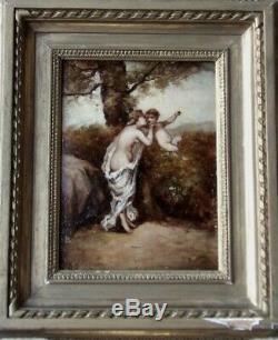 Diaz Of The Pena 1807-1876. Venus Embracing Cupidon. Charming Table Xixth