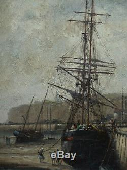 Dieppe Freret Marine Channel Chart Painting Cherbourg Cotentin // Pecrus Isabey