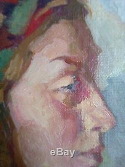 Dina Frumina Ancient Painting 52-46 CM 1950-s