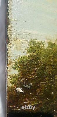 Dutch School Of XVIII Oil On Wood Follower Jacob Van Ruysdael