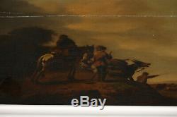 Dutch School XVIII Century / Herdsmen Tending Cattle