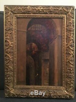 Edmond Aman-jean Interior Palace. Ancient Symbolist Painting