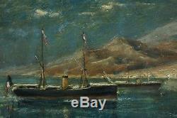 Edouard Manduau, 1855, French Navy In Aden, Steamers, Cote 2.000 Euros