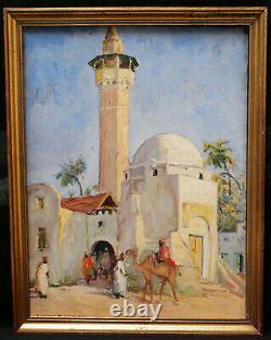 Édouard Richard Orientalist Painting Mosque North Africa Algeria Orientalism