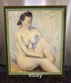 Elegant Oil On Canvas Representing A Naked Woman, Signed Nicolai. E. L.
