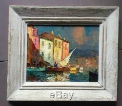 Elie Bernadac Martigues The Bird Mirror Oil On Panel