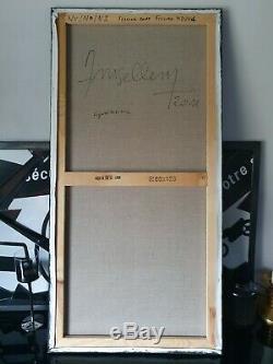 Emanuelle Large Painting Amsellem Hst Oil Dlg Soulages Hartung 120x60cms