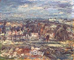 Emeric Vagh Weinmann Painting Hsp 40/50 Southern Landscape 12f Impressionism