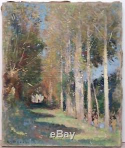 Émile Bernard Oil Painting On Canvas Landscape Under Wood Animated Quality Museum +++