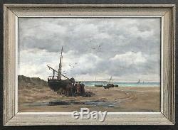 Emile Louis Vernier (1829-1887) -normandie-brittany-marie Jeanne-paris-concarneau
