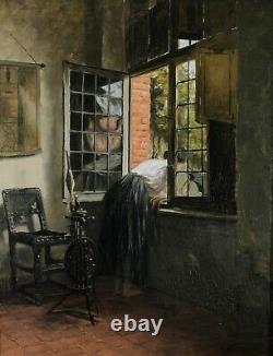 Emile Pottier, 1873-1907, The Chatterbox, Young Woman At The Window, Former Table