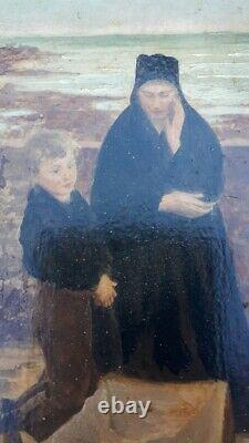 Emile Renouf The Widow Of The Isle Of Sein Oil On Sign Finistère Bretagne