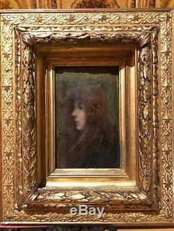 Ernest Robert Noir (1864-1931) Girl, 1885 Symbolist