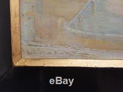 Eugène Assezat De Bouteyre (1864-1942) The Port Of Algiers, Orientalist