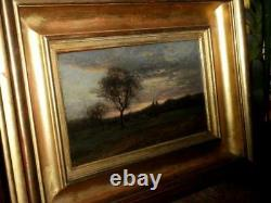 Eugene Lavieille After The Storm Oil On Panel Signed Dated 1855 Barbizon