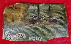 Ex-vote. Anonymous. Oil Painting On Wood. Spain. Xth Century