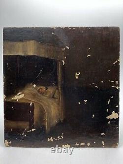Ex-voto Oil On Wood Healing Vow 19th Century