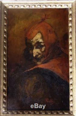 F. Paillet 1850-1918. Beautiful Portrait Of Mephisto The Devil Of Faust