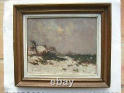 Fernand Maillaud 1862/1948 Snowscape 1917 H/bois Creuse Souvenir De Jo