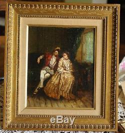 Fernand Viola Henri IV And The Courtesan Oil On Wood 19th