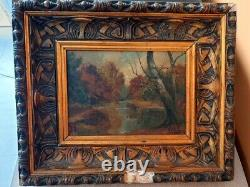 Fernand Weil Oil On Panel Hsp Painting Under Wood Side Gilded Frame