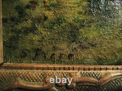 Fine Wood Oil 19 Eme 1847-1931 Samuel Frere Signs S. Frere Rouen