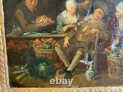 Flemish School - 18th Century - Golden Wood Frame - Oil On The Web - Ref J