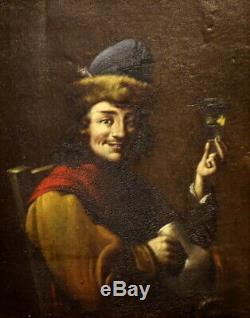 Flemish School Ca. 1700 The Saltimbanque