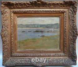 Former Impressionist Landscape Painting Jean De La Hougue Framework Montparnasse