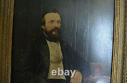 Former Portrait Sir English Oil On Panelpas Canvas