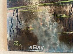 Former Table Oil On Panel Landscape Campaign Clair Obscure Signature Wz