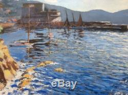 Fort St Louis Toulon 1931 Table Oil On Panel Signed