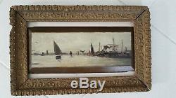 Fouling. Marine Painting In The Style Of Eugène Boudin
