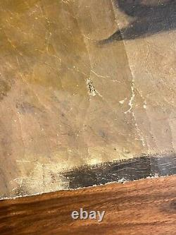 Fragment & Portrait Young Man & Study & Oil On Canvas & Xixth Century
