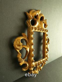 Frame In Carved Wood And Gold Miniature. Italy 19th