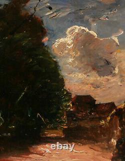 François Auguste Ravier Lyon Painter Painting Landscape Oil Panel Lyon Art