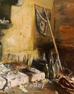 François Reynaud Landscape Painting Inside Ploubazlanec Britain Bréhat Paimpol