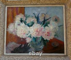 G. Guido Filiberti 1881-1970. Grand & Luminous Impressionist Au Bouquet Flowers