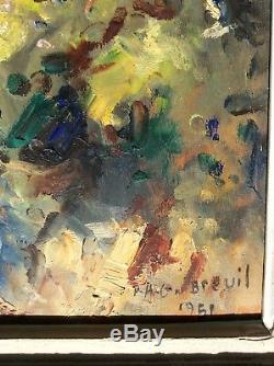 Gabriel Breuil Avignon Oil On Panel Old Provencal Impressionism