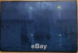 Gabriel Marie Biessy (1854-1935) Belle Ile, Port Palace, 1907 Impressionist