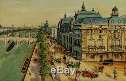 Gare D'orsay, 1925, Paris, Superb Naive Signed Bergez