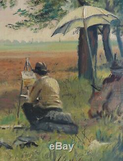 Georges De Marco (1906-1990). Autoportrait, The Painter On The Pattern. 1931