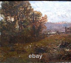 Giacinto Corsi DI Bosnasco Italian Italy Landscape Impressionist XIX