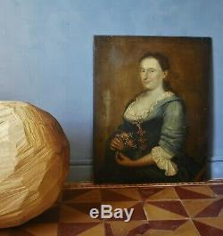 Great Portrait Of A Pregnant 82 X 65 School Foreign Hsb 17th