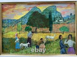 Gregoire Michonze (1902-1982) Rare Painting Landscape Anime Origin. Frame 1/2