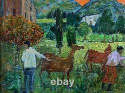 Gregoire Michonze (1902-1982) Rare Painting Landscape Anime Origin. Frame 2/2