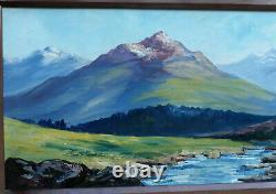 Guy Le Florentin 1907-1978. Great & Beautiful Painting. Vast Landscape Of Mountains