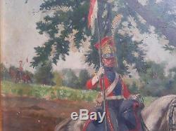 Henri Chartier Napoleon Soldier Stop Genre Panel Oil French Art Table